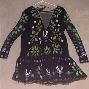 Free People Hearts are Wild Mini Dress